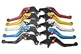 選べる5色 アルミ ブレーキ クラッチ レバー セット 6段階調整 【ADVANTAGE】 ホンダ 汎用 CBR250 NSR250 CB400SF VTR250 ホーネット (レッド)