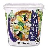 VEGE MISO SOUPカップ あげなすと6種の野菜 24.2g ×6個