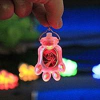 1 PC ペット犬猫LED点滅首輪装飾セーフティナイトライトペンダントバッテリー のVEC23のP25付き:レッド