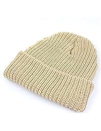 (ニューヨークハット) NEW YORK HAT ニット帽 キャップ 無地 シンプル ユニセックス【チャンキーカフ】05.ストーン