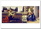 世界の名画・ダヴィンチ 受胎告知 ジークレー技法 B4高級ポスター