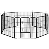 "32"" 80x80CM 8 Panel Pet Playpen Portable Exercise Cage Fence Dog Puppy Rabbit"