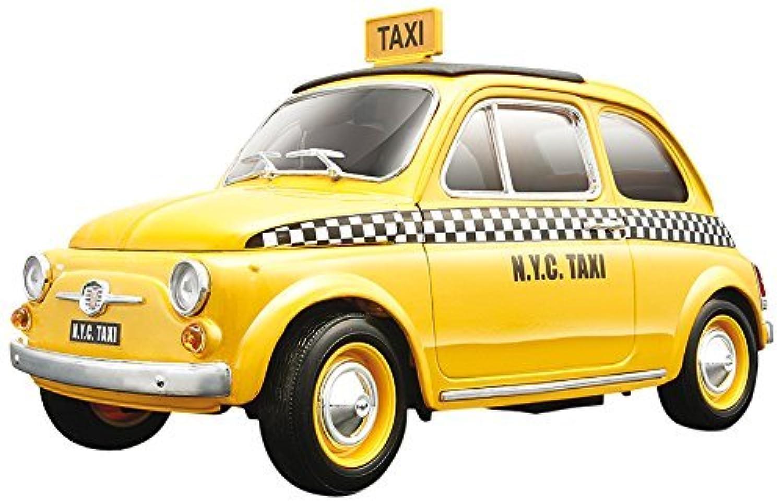 おもちゃ fiat フィアット 500 Taxi Cab Diecast ダイキャスト Model 1/18 レプリカ ミニチュア ミニカー 模型 車 飛行機 [並行輸入品]