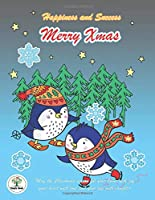 Happiness and Success Merry Xmas: Bullet Planner 2020 and Notebook Chrismas Theme, The Penguin cover design