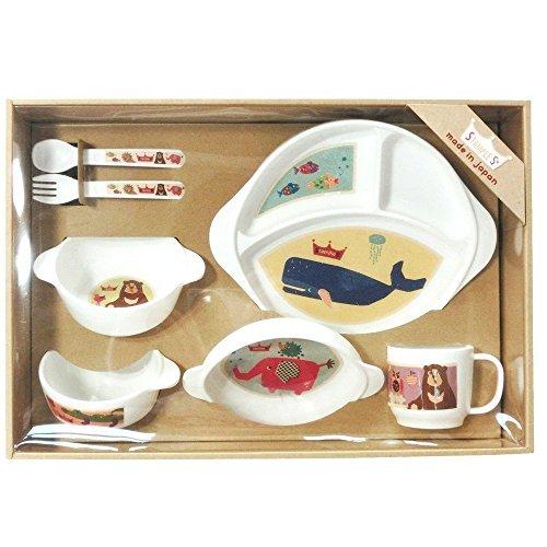 スタンプル(stample)ベビー食器 7点セット(ランチプレート/小皿/スープ皿/お茶碗/マグカップ/カトラリーの7点セット/離乳食器)(電子レンジ 食洗機OK 日本製)