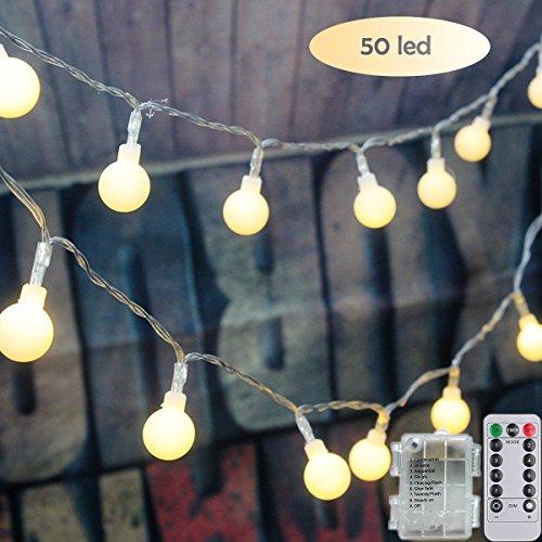 LEDストリングライトGlobeフェアリーライトバッテリーP...
