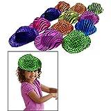 帽子 – 24動物プリントデザインGangsterネオン色付き。コスチュームアクセサリー