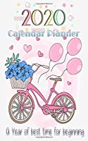 2020 Calendar Planner A year of best time for beginning: On The Go  Dated Planner Calendar with US holiday 2020 January to December , year month and day Planner, organizer Journal  5 X 8 INCH