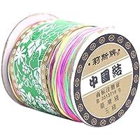 C-Princessクラフト用品 カラーナイロンコード 中国紐 0.8mm*135m ナイロンロープ 糸 紐 中国結び用 メイキングトイ アート用品 手芸 工芸 ハンドメイド 手作りDIY最適 マルチカラー