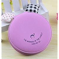 HuaQingPiJu-JP ミニラウンド漫画キャンディ小さなガラスミラーサークルクラフト装飾化粧品アクセサリー紫
