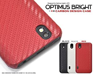 【ブラック】Optimus bright L-07C用 カーボンデザインケース