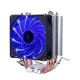upHere サイドフロー型CPUクーラー Intel/AMD専用  PWM仕様 青いLED 超静音