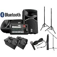 【スピーカースタンド+マイクセット+ケース付】YAMAHA Bluetooth対応PAシステム STAGEPAS400BT
