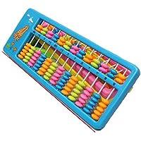 幼児期のゲーム 13ファイル7ビーズ漫画プラスチック製の生徒の鉛筆教授用Abacus(青)