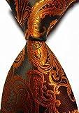 (ミークスマルクス) MIXMAX  新式メンズ  ペイズリー  ジャカード織ネクタイ  ビジネス 結婚式/披露宴/礼装/ (ブラウン)