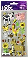 Sticko Sparkler Classic Stickers-Farm Animals (並行輸入品)