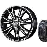 【適合車種:トヨタ スペイド(140系)2012~ サマータイヤセット】 HIFLY HF201 175/65R15  夏用タイヤとホイールの4本セット アルミホイール:WEDS ライツレー DK_ブラックメタリックポリッシュ 5.5-15 4/100 (15インチ サマータイヤセット)