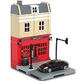 Mille Ti Rana ミニカー と遊べる お店 つながる街 道路 車1台 付き (ステーキハウス ポルシェ パナメーラ)