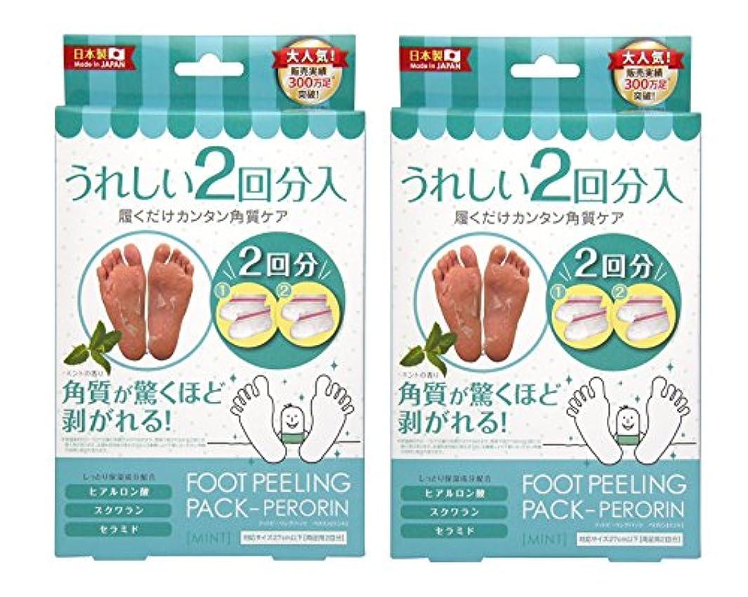 場所聴くフルーツ野菜フットピーリングパック ペロリン ミント2回分×2個セット