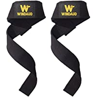 WINDAUD 筋トレ リストストラップ - プロ リフティングストラップ - 手首 リストラップ - サイズ57cm x 3.7cm - ネオプレン3mmパッド