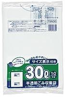 ジャパックス 容量表示入りポリ袋 乳白半透明 30L TSN30 1パック (10枚) ×60セット