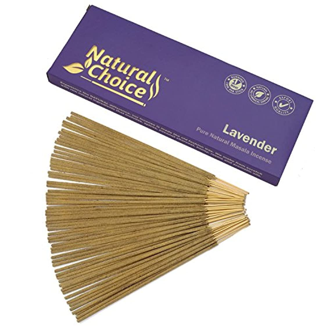 キロメートル昼食分Natural Choice Incense Lavender Incense Sticks 100 gm – Made from Scratch – No Dipping