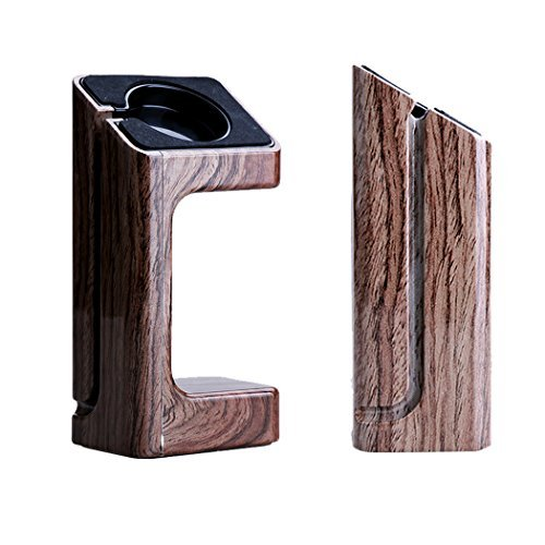 Apple Watch Stand, RC Pro Natural Wood Wooden Apple Watch Charging Dock / Station / Platform iWatch Charging Stand Bracket Docking Station Holder for Apple Watch [38mm and 42mm] - Compatible with Both Models (Willow Wood) [並行輸入品]
