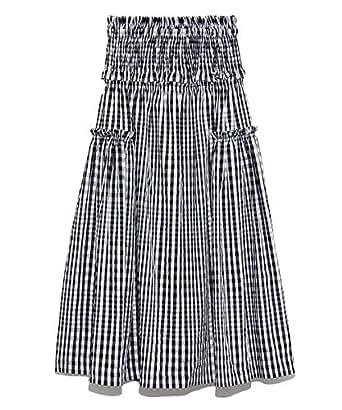 [スナイデル] チェックシャーリングスカート SWFS192094 BLK 日本 F (FREE サイズ)