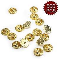 (Price/500 PCS)ALICE Silver/ Golden Brass Butterfly Clutch, 0.4