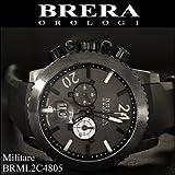 [ブレラ オロロジ]BRERA OROLOGI メンズ 時計 Militare(ミリターレ) ブラック ラバー【BRML2C4805】 [並行輸入品]