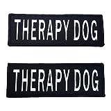 Leash Bossサービス犬ベストパッチ–刺繍2パック–フックとループ両側–3サイズ Small - 1 x 2.75 Inch PATCH-1x2.75-THER