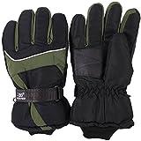 HIROMARUjp 防水 防風 グローブ 手袋 スノーボード スキー バイク 男 女 兼用 緑 グリーン