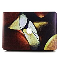 2018 2017 2016 Macbook Pro 15 Case, DIGIC Ultra Thin Hard Plastic Painting Series Laptop Shell Cover Skin for Macbook Pro 15 inch with Touch Bar A1990 A1707, Brown oil painting