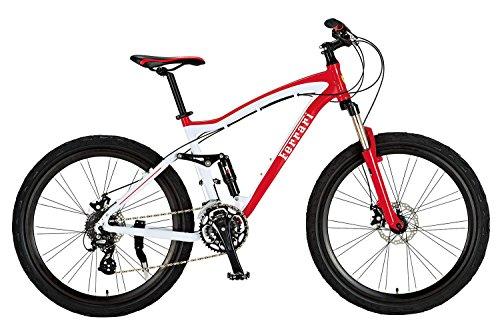 Ferrari(フェラーリ) FB2612G-ALTA レッド 【26インチ 軽量アルミフレーム マウンテンバイク】 【SHIMANO ALTUS 24段変速ギア搭載 前後ディスクブレーキ採用】 超ハイスペックバイク 【サドル高85cm~98cm/適応身長160cm以上/16.5kg】 17159-0299