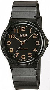 [カシオ]CASIO 腕時計 スタンダードアナログウォッチ ブラック×ゴールド 海外モデル 国内メーカー保証付き MQ-24-1B2LJF
