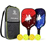 XS XSPAK Graphite Pickleball Paddle, Lightweight Graphite Honeycomb Composite Core Paddles Single Wrap or Sets of 2, USAPA Approved