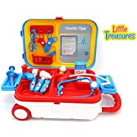 The Doctors' Mini-Travel bag toy kit from Little Treasures is the newest medical toy to encourage children into the world of medicine.