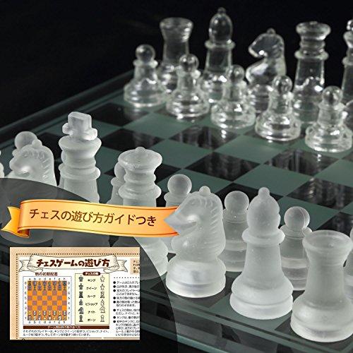 mikketa『チェス クリスタル クリア フロスト 駒 ガラス製』