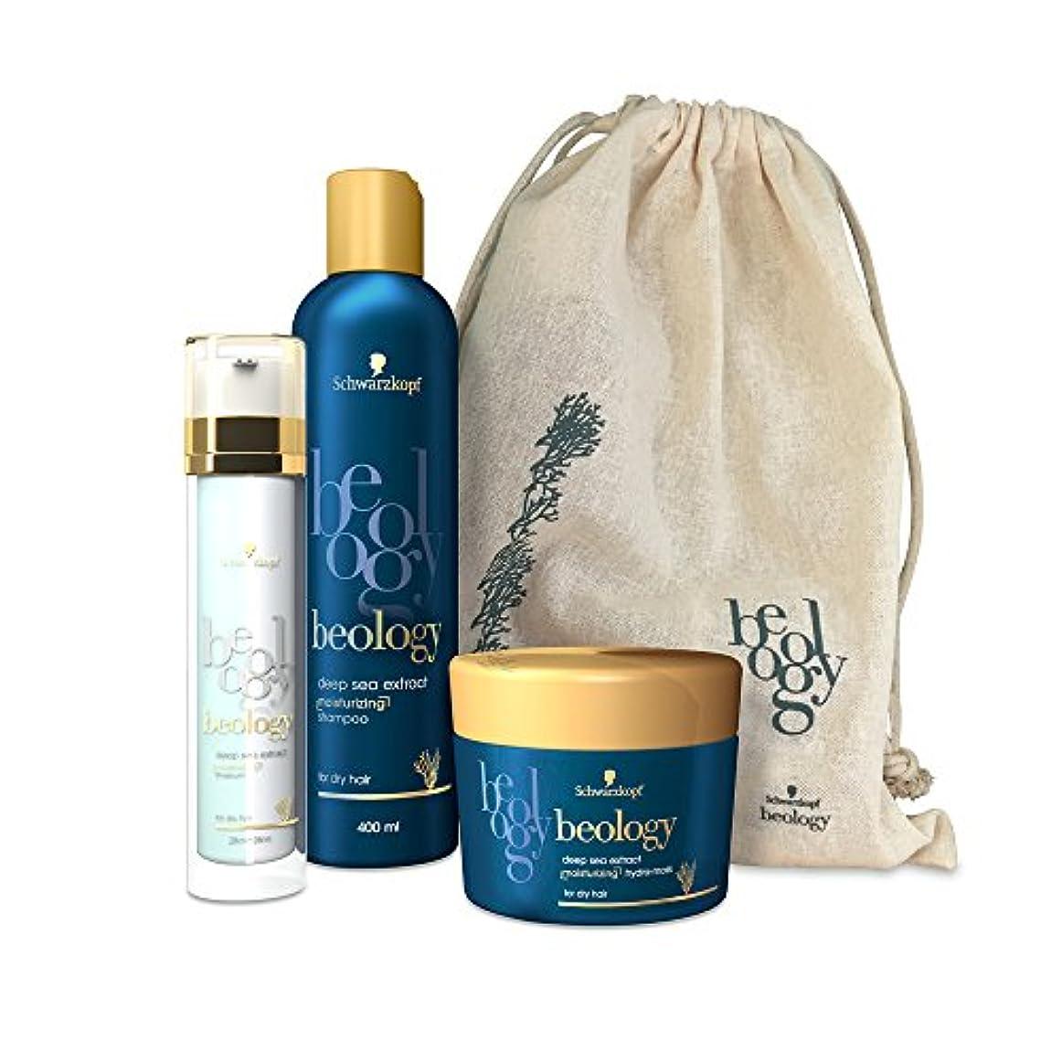 歩行者認知状況Beology - 3つの保湿製品のセット - バイセラム/シャンプー/マスク - ヘアケア用ディスカバリーバッグ