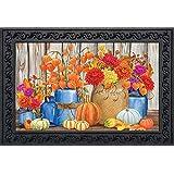 "Briarwood Lane Fall Mason Jars Floral Doormat Primitive Autumn Indoor/Outdoor 18"" x 30"""