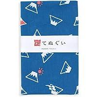 彩(irodori) 小紋手ぬぐい 富士山 ほつれ防止加工なし 33×90cm TE-06005-IR