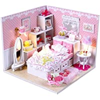 DIYハンドクラフトミニチュアプロジェクトキットDolls House My Little Princess Bedroom