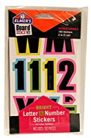 ELMERS Board Mate Repositionable 2 Letter, Number & Symbol Stickers, Bright Colors, 183 Pieces (E3096) by Elmer's