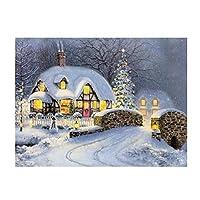 whitelotous Christams 5d DIYダイヤモンド絵画刺繍paint-by-numberキットホーム壁装飾 40*30cm 5D