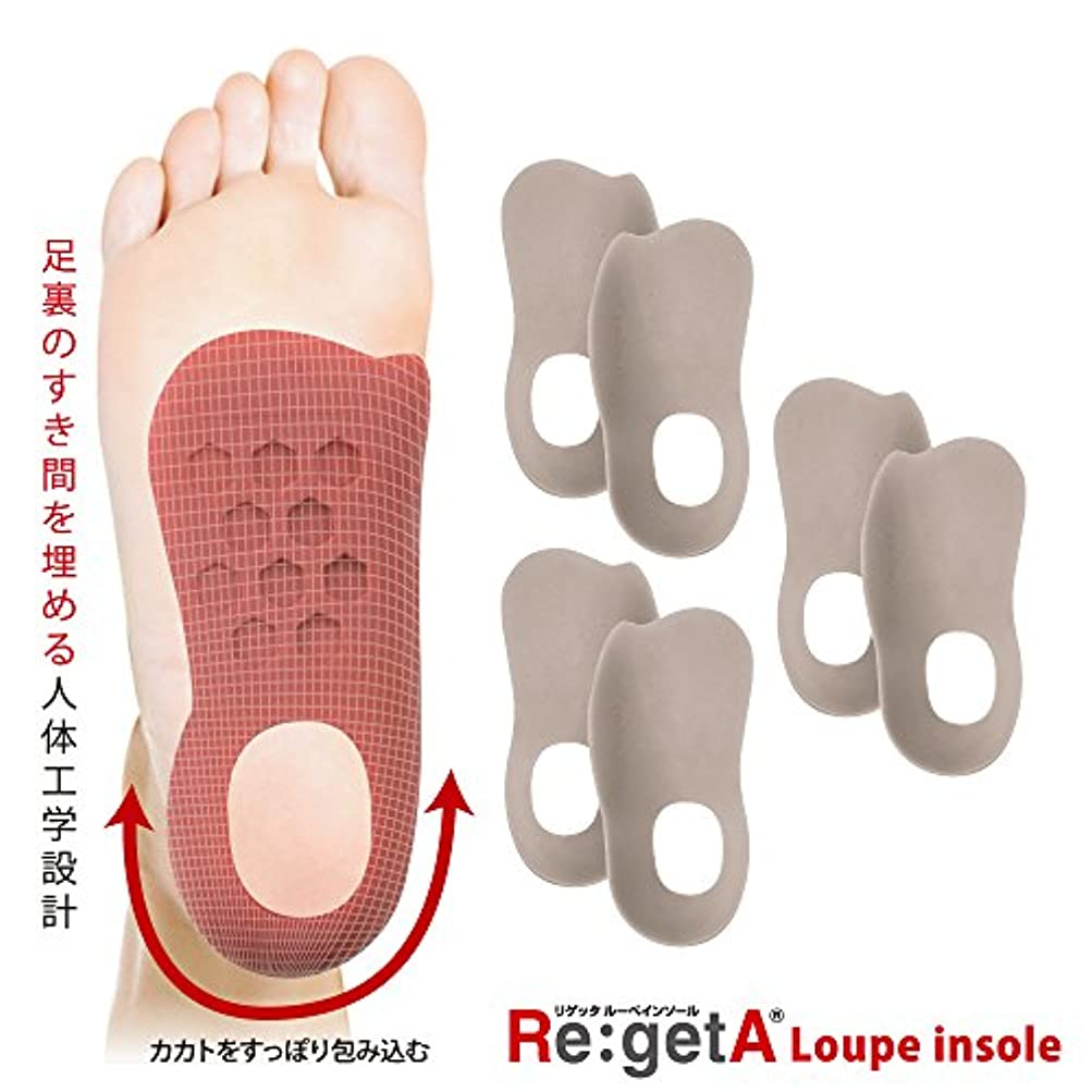 環境信頼性手錠リゲッタ(Re:getA) ルーペインソール グレージュ 3足組 メンズサイズ 25.0-28.0cm対応