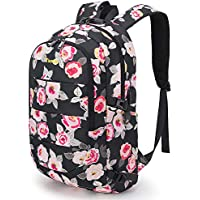 Tzowla Business Laptop Backpack Water Resistant Anti-Theft College Backpack with USB Charging Port and Lock 15.6 Inch Computer Backpacks for Women Girls, Casual Hiking Travel Daypack (A-Flower2)
