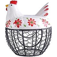 PLL クリエイティブ鉄ストレージバスケットバスケットエッグチキン野菜バスケットフルーツストレージバスケットのバスケット ( Color : Red )