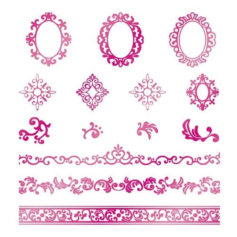 グリース優雅宝ツメキラ ネイル用シール  プレミアム ロココ メタリックピンク