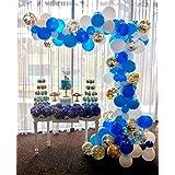 PartyWoo 風船 70個 4色 風船 白 バルーン ライトブルー 水色 バルーン 青 風船 紙吹雪バルーン ゴールド 誕生日 飾り付け バルーン 結婚式 装飾 ブルー ベビーシャワー 装飾