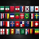 Funpa ガーランド 国旗 ロシアワールドカップ ファン 応援 テーマパーティー デコレーション 掛け飾り ktv ディスコ バー 14m ポリエステル製